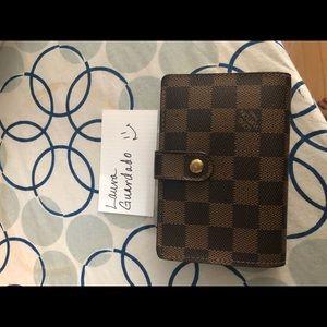 Louis Vuitton French Wallet in Damier Ebene